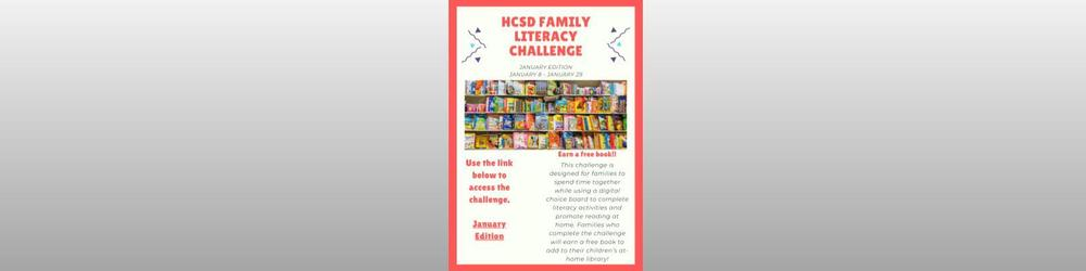Family Literacy Challenge (K-4th Grade)