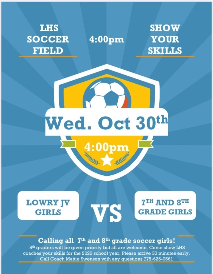 poster for girls soccer
